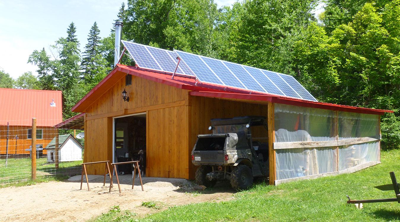 Panneaux solaires, batteries et installation